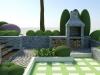 murowany grill ogrodowy