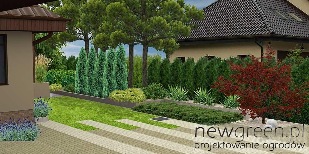 projekt ogrodu przydomowego pozna� newgreen