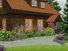 ogród przy domu letniskowym - wizualizacje, newgreen.pl