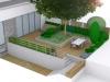 ogród minimalistyczny projekt, newgreen.pl