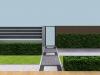 projekt ogrodzenia widok od strony drzwi frontowych