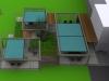 projekt tarasu przy biurowcu, newgreen