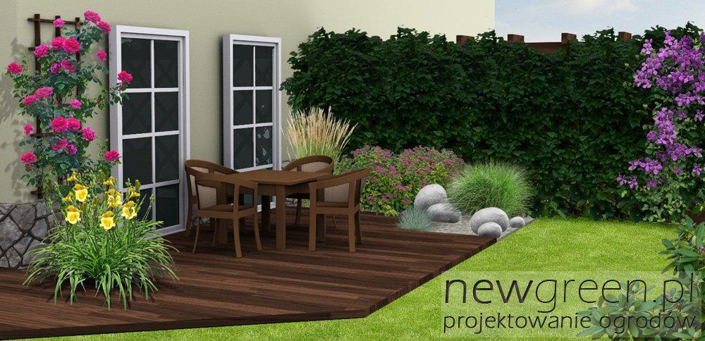 Wizualizacja Malego Ogrodu Przydomowego Newgreen Projektowanie
