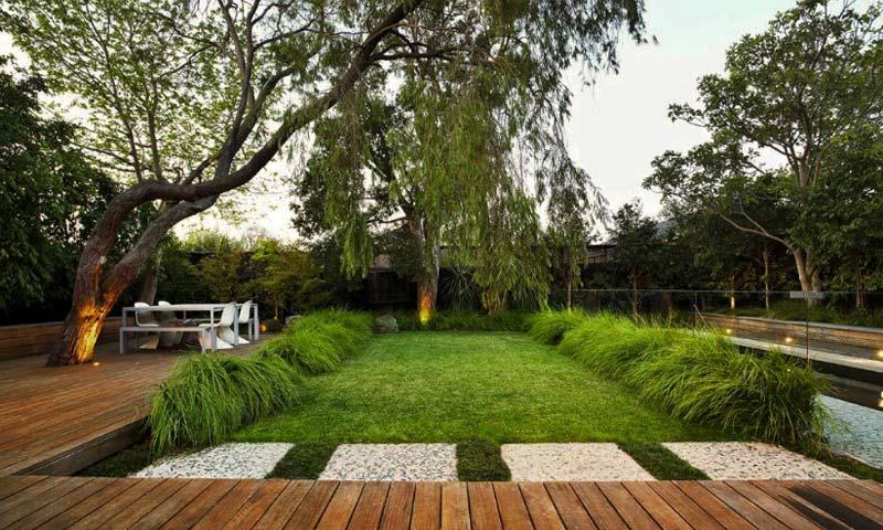 Modern House Beautiful Terrace And Landscape Ta Kompozycja Jest Niemal Niezmienna W Ci Gu Roku Fot Www