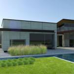 basen w ogrodzie nowoczesnym