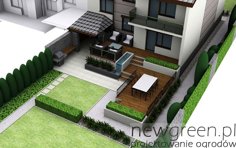 Dwie koncepcje przebudowy tarasu przy domu jednorodzinnym