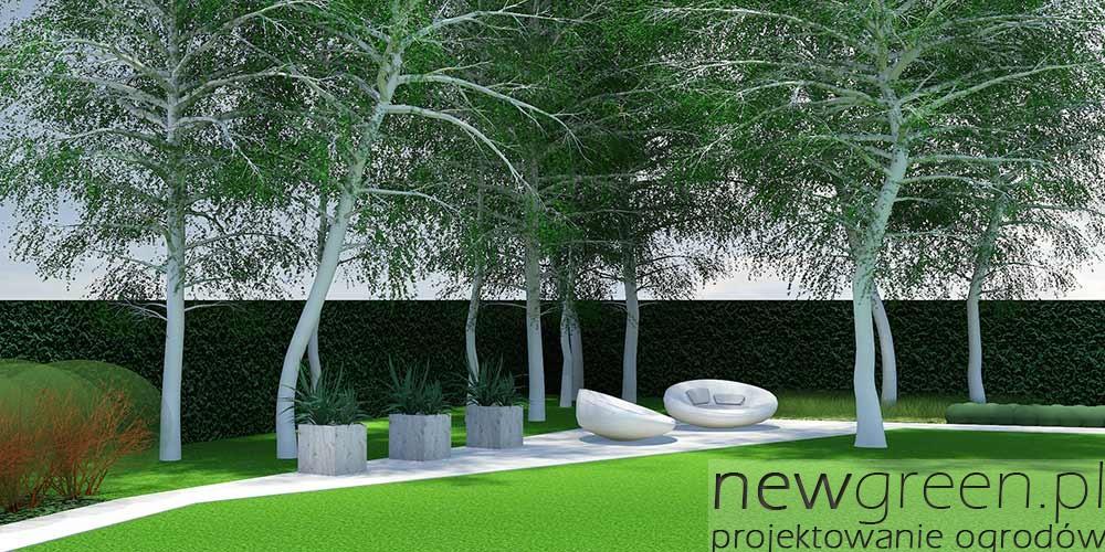 Projekt nowoczesnego ogrodu przydomowego, Łódź